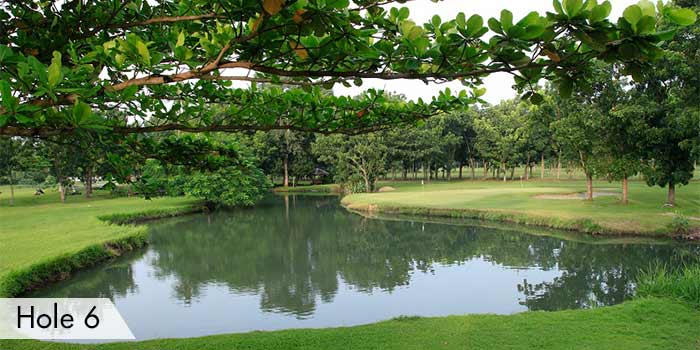A Lake in Hole 6 at AngTay Golf and Country Club