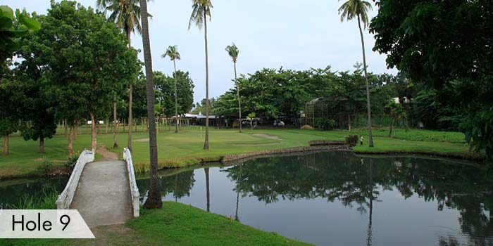 AngTay Golf and Country Club Hole 9 with a Mini Bridge