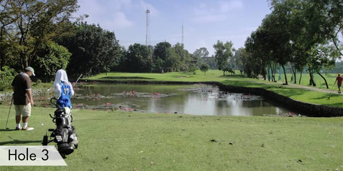 A Lake at Hole 3 in Army Golf Club
