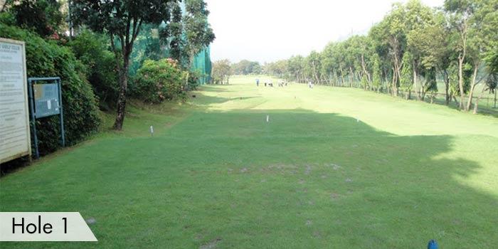 Hole 1 of Army Golf Club