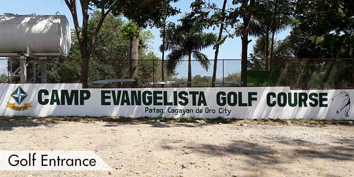 Golf Entrance of Camp Evangelista Golf Club