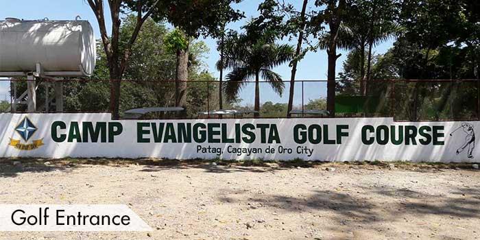 Golf Entrance of Camp Evangelista Golf Club