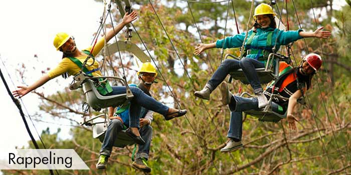 Rapelling Activity at Camp John Hay Golf Club, Inc.