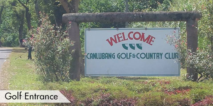 Golf Entrance of Canlubang Golf & Country Club