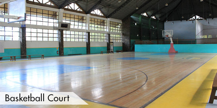 Indoor Basketball Court at Canyon Woods Residential Resort