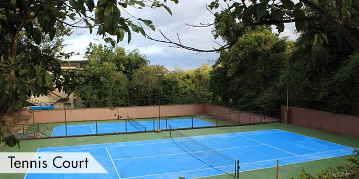 Tennis Court of Canyon Woods Residential Resort