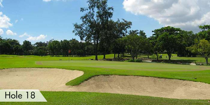 Bunker at Hole 18 in Cebu Country Club