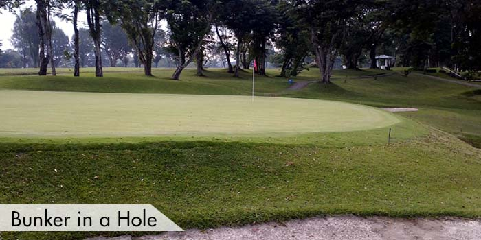 A Bunker in a Hole at Iloilo Golf & Country Club, Inc.