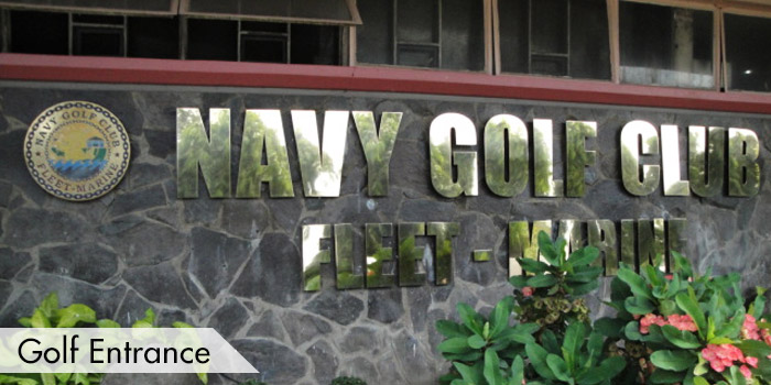 Navy Golf Club Golf Entrance