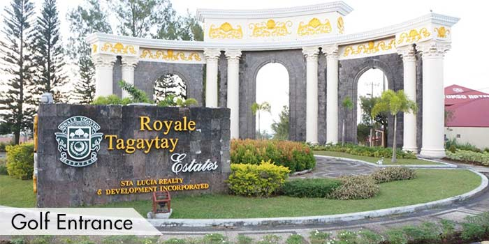Golf Entrance of Royale Tagaytay Country Club