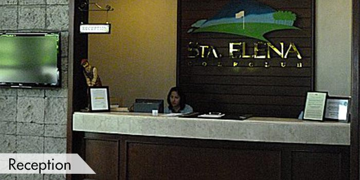 Sta Elena Golf Club Reception