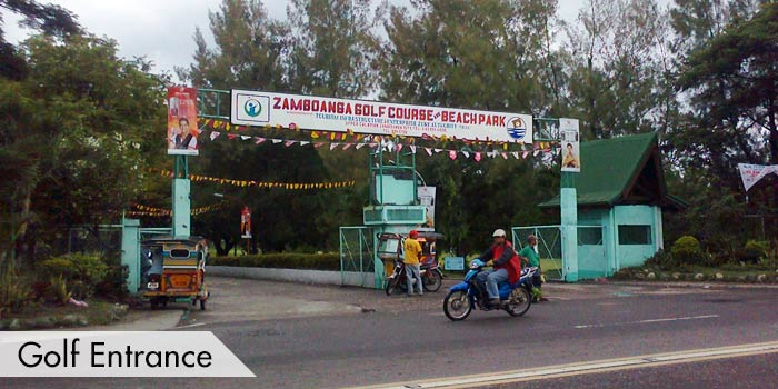 Zamboanga Golf Course & Beach Park Golf Entrance