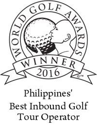 Philippines best inbound golf tour operator 2016 winner