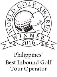 Philippines best inbound golf tour operator 2016 winner