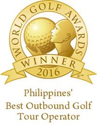 Philippines best outbound golf tour operator 2016 winner