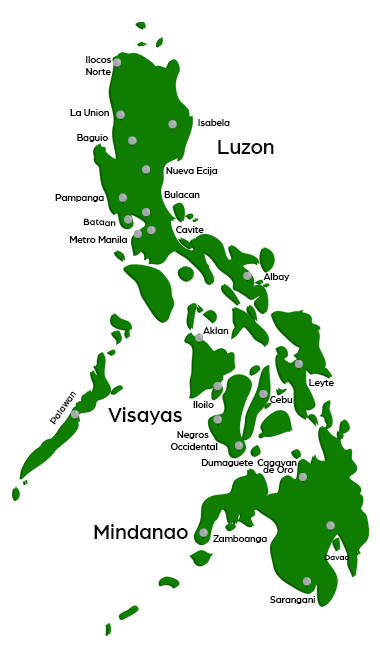 Golf Courses in the Philippines - Map