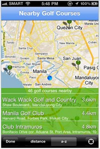 Free Philippine Golf Phone Directory
