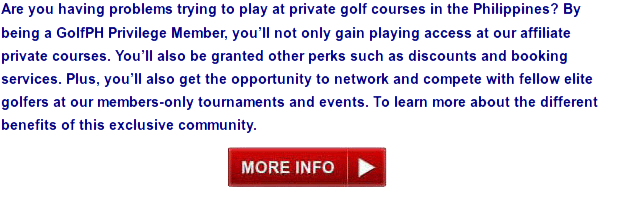 Get Discounts and Play at Private Member-Only Golf Clubs in the Philippines