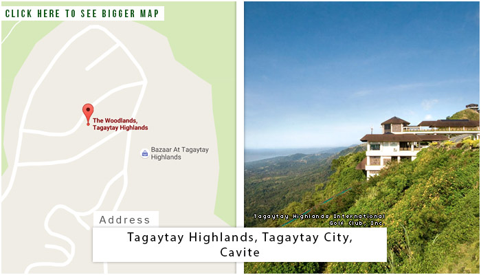 Tagaytay Highlands Location, Map and Address