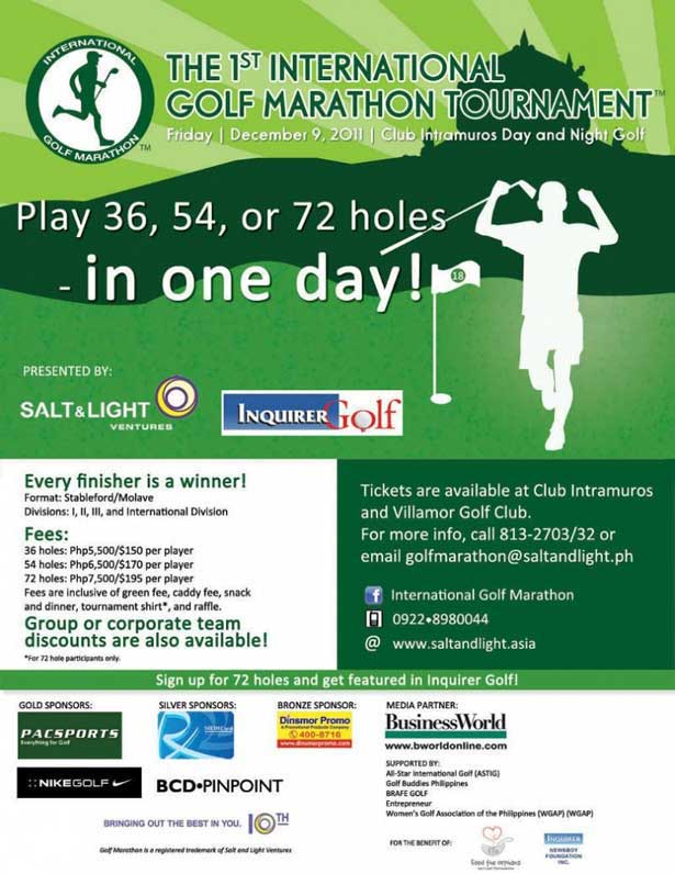 1st International Golf Marathon Tournament