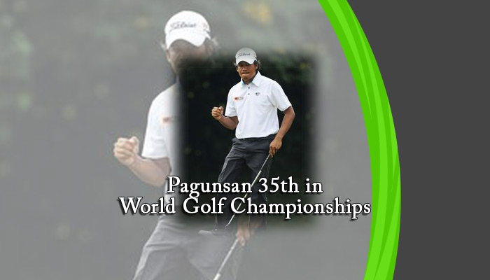 Pagunsan 35th in World Golf Championships