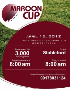 UP Golf Team to host Maroon Cup at Forest Hills