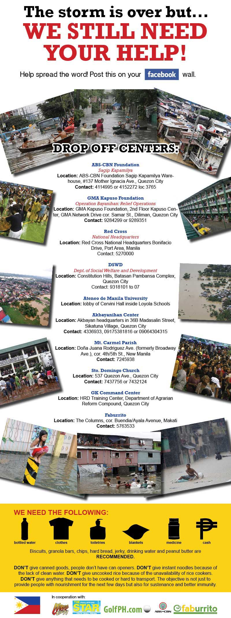 Let's help participate in flood disaster relief efforts