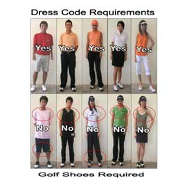 Fashion tips for golfers