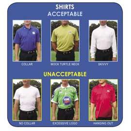 Proper dress code when playing golf
