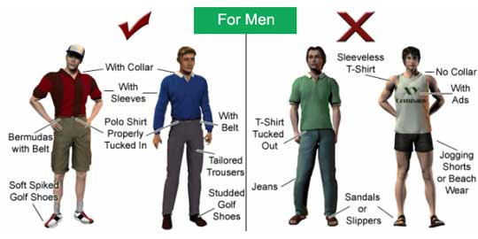 Tips to have a good attire while playing golf