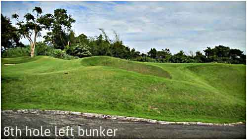 8th hole left bunker