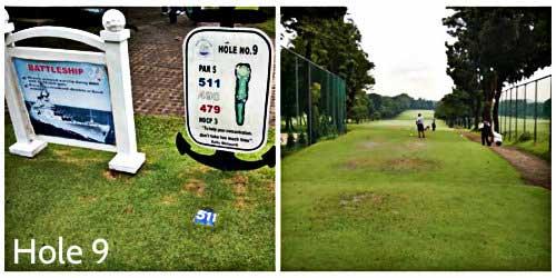 Navy Golf Club - Hole 9