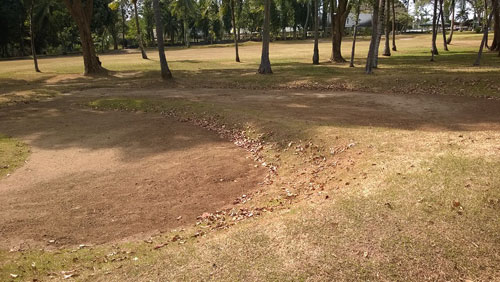 Apo Golf and Country Club bunker or wasteland