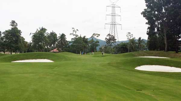 course review for malarayat 4th hole