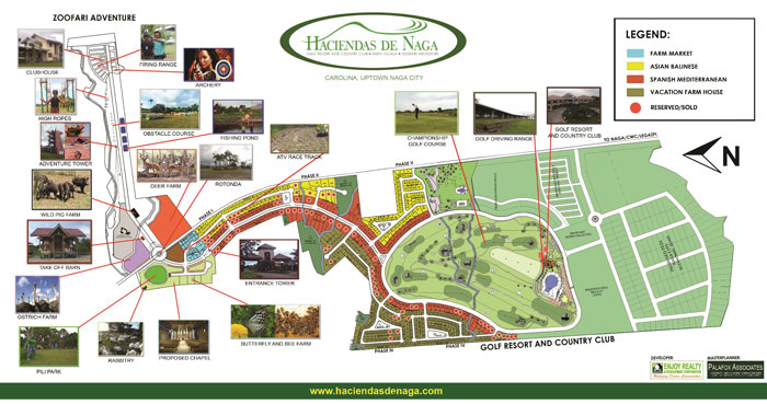 Haciendas de Naga Sports Club, Inc. hDN salesmap