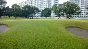5 Green on hole 10, framing resorts world at villamor golf club