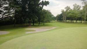 x bunkers around 4th green at villamor golf club