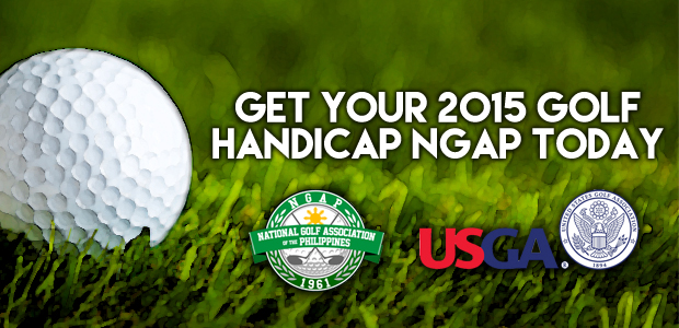 Get your 2015 NGAP Golf Handicap Today