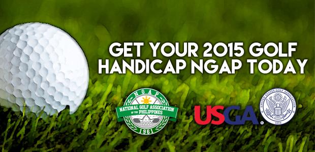 Get your 2015 NGAP Golf Handicap Today