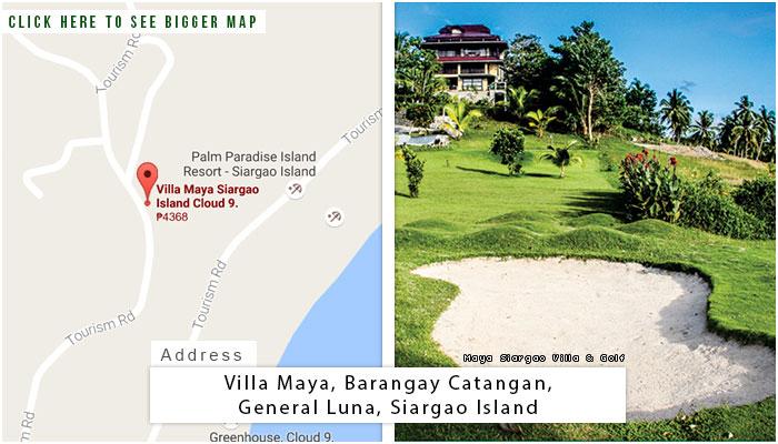 Maya Siargao Location, Map and Address