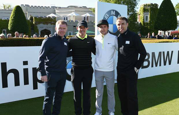 Mcllroy and 1Ds Horan tee at the BMW PGA Pro-Am