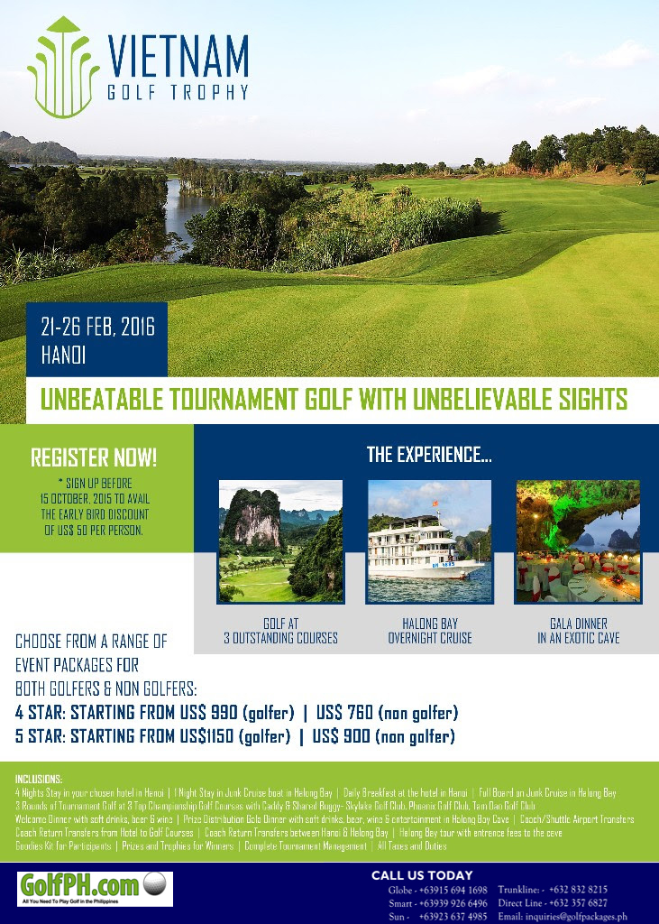 Play Golf and Eat Pho at the 2016 Vietnam Golf Trophy