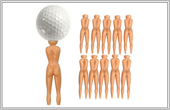 10 Pcs Joke Nude Lady Golf Tees (416 PHP)