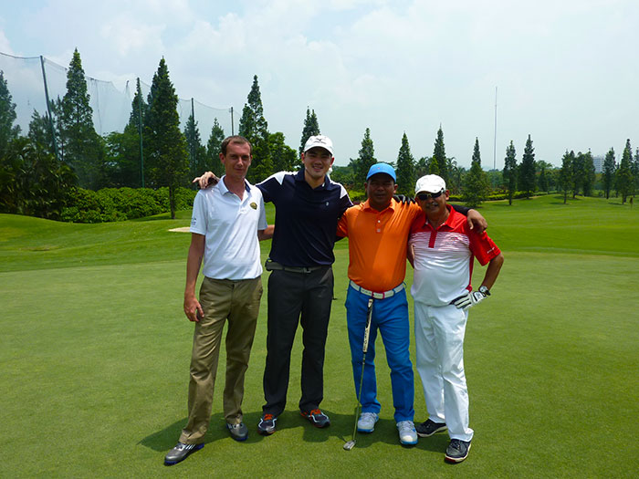 My man Sylvester (Stalone) from Cambodia Golf Today Magazine, Errol, Saiful, and Dody from the Minstry of Tourism Indonesia