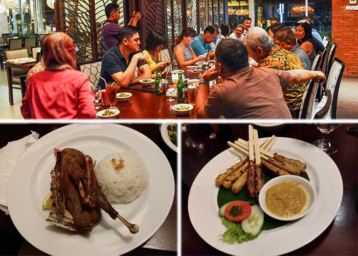 Indonesia delicacy of roast duck at the uniquely named Bebek Bengil, or Dirty Duck Diner!