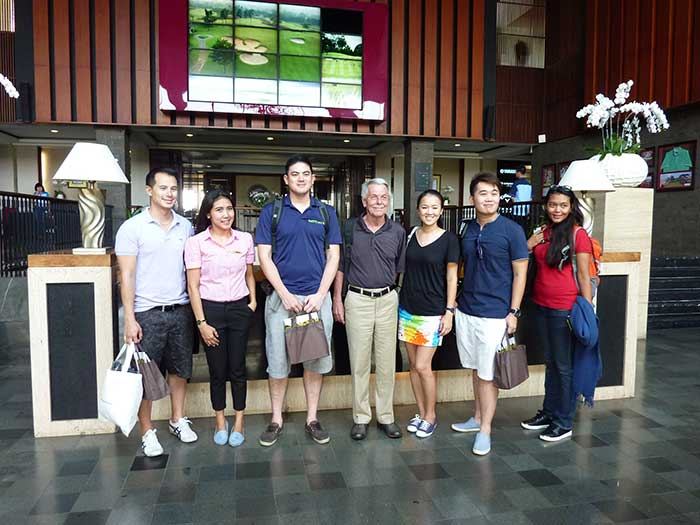 From Left to Right: Me, Our Royale Jakarta Host, Errol, Tom from Asian Golf Solutions in Thailand, Merry from OB Golf Indonesia, Candra from PSD Travel Cambodia, and our gracious event host Santi from Golf Wonderful Indonesia