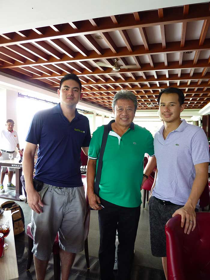 Errol, George Chandra – GM of Royale Jakarta, and Yours Truly