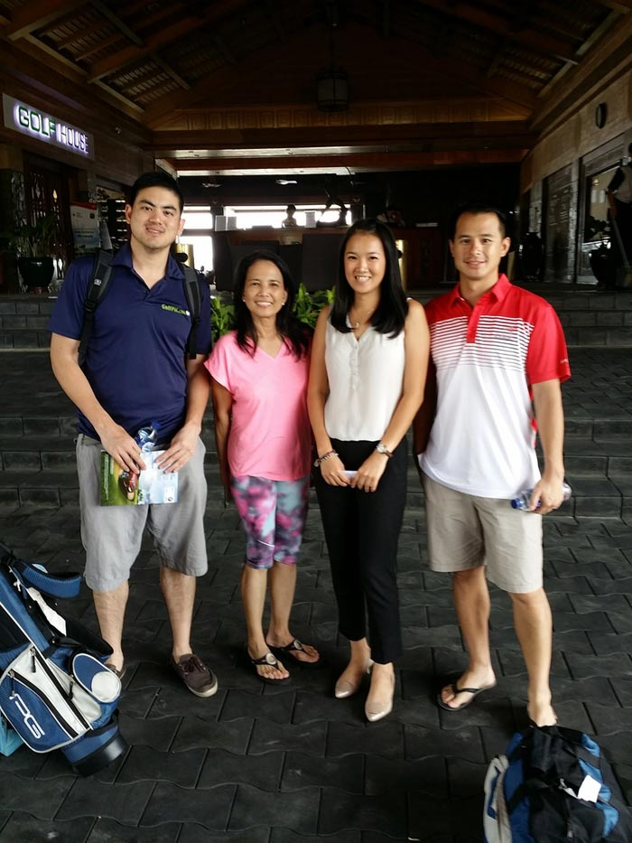 Team Manila with Errol, Maripaz from GolfHolidays, our lovely host Merry and me on the right
