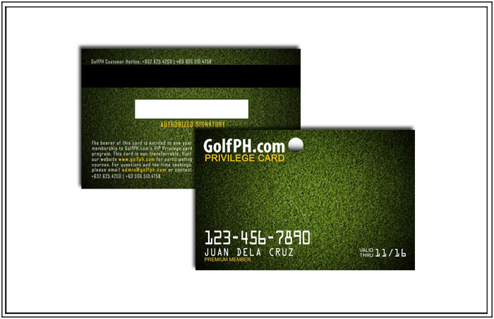 The GolfPH Discount Card – 25% off (see plans)
