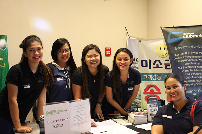 The GolfPH Registration Team with one of our favorite new Lady members Ada Milby.